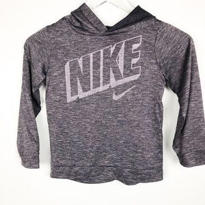 heather gray NIKE hooded SHIRT top size 7